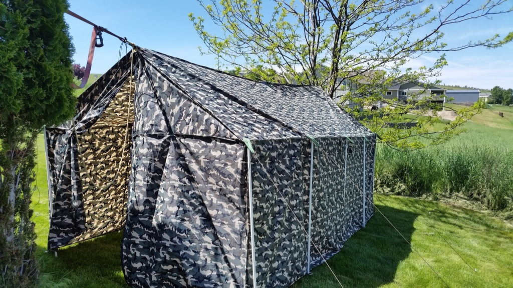 Customer Project: 8x16 Wall Tent - Ripstop by the Roll